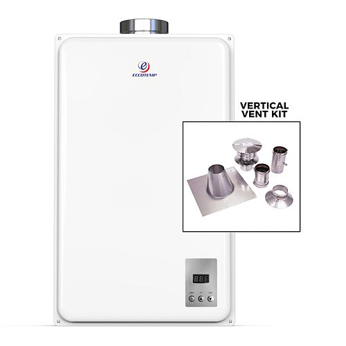 Eccotemp 45HI Indoor 6.8 GPM Natural Gas Tankless Water Heater Vertical Bundle