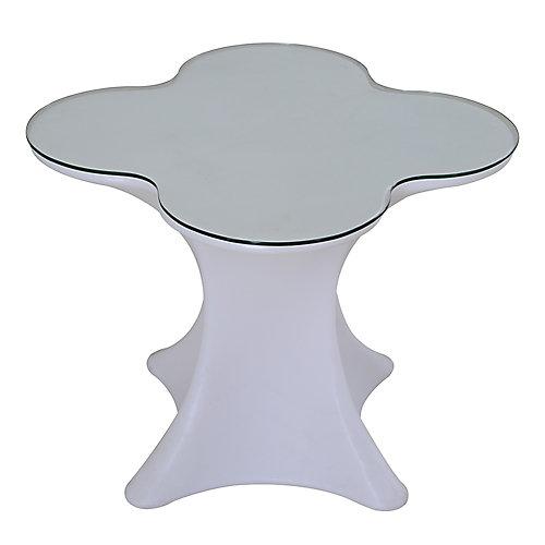 LED Table bistro en verre (table seulement)