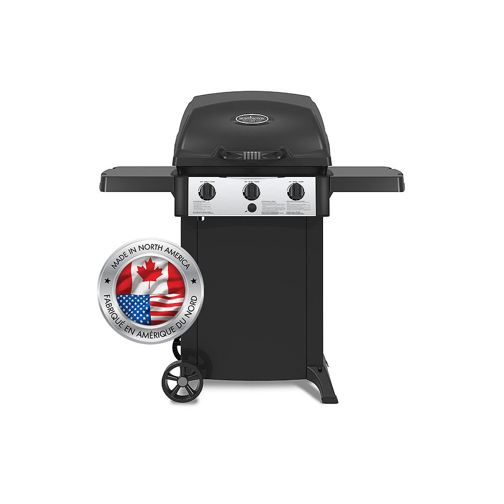Huntington 3-Burner Cast Aluminum Propane BBQ