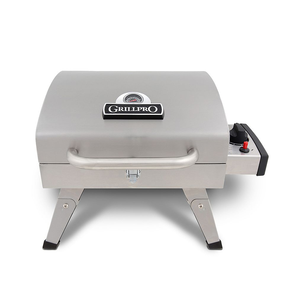 GrillPro Table Top Portable Propane BBQ in Stainless Steel
