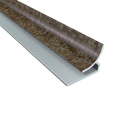 Fasade 18-inch  Panel Inside Corder Trim, Smoked Pewter Finish