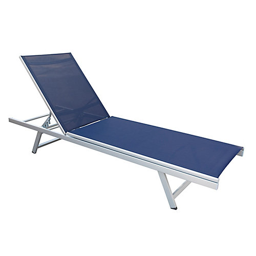 Gallant Navy Blue Reclining Patio Lounger