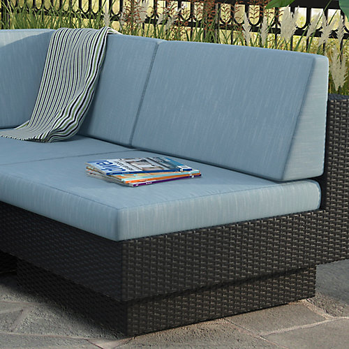 Park Terrace Middle Patio Sectional Seat in Textured Black Weave