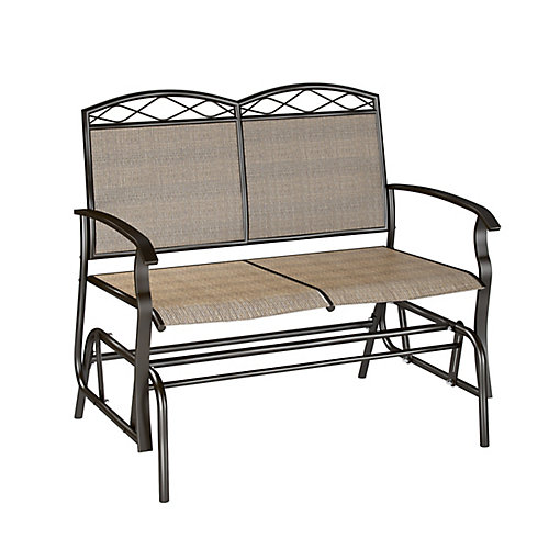 Dark Brown Patio Double Glider