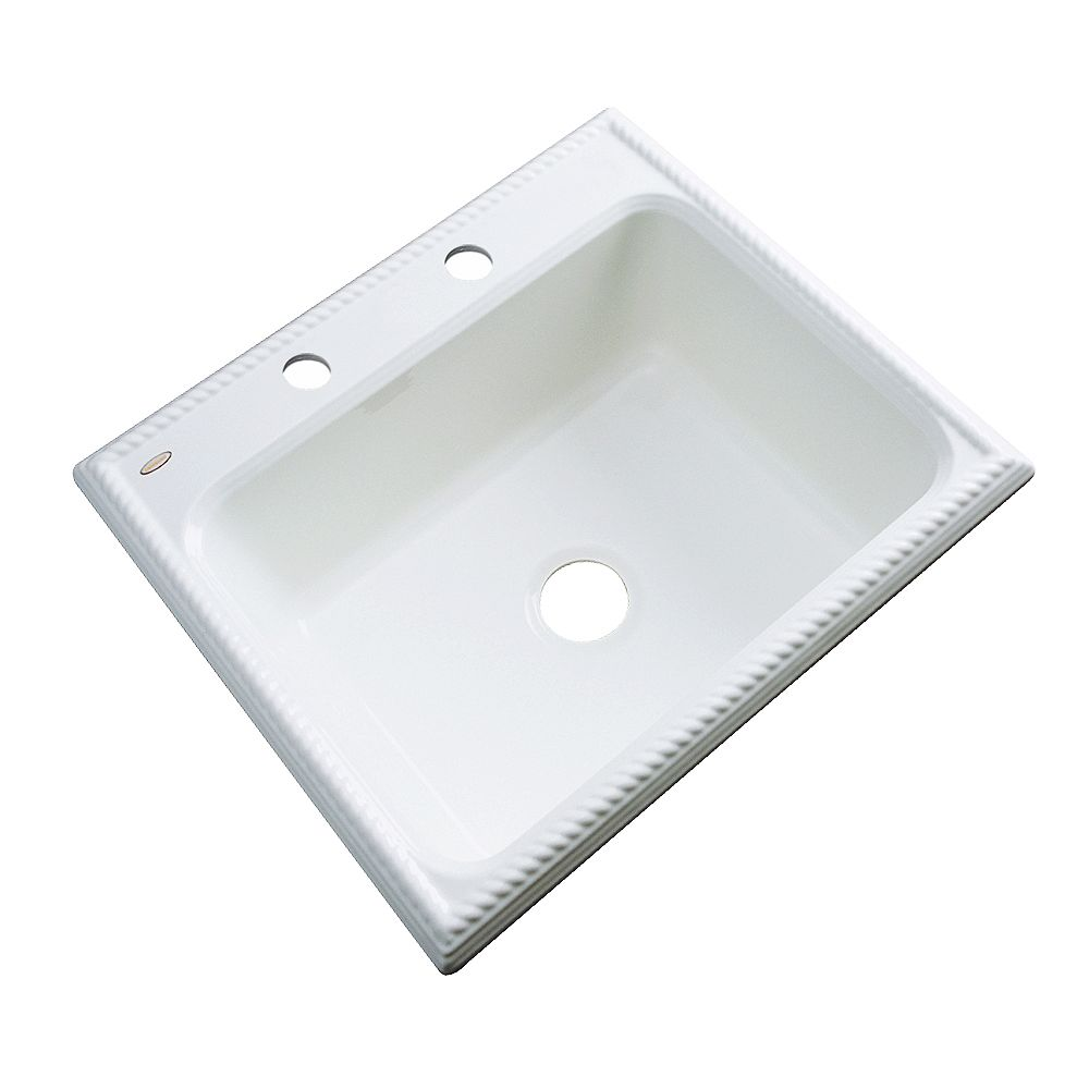 Thermocast Wentworth 25 Inch Single Bowl White Kitchen Sink