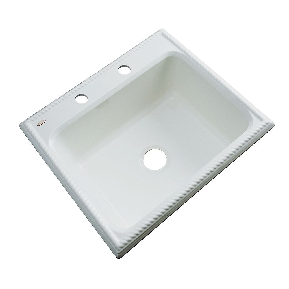 Thermocast Wentworth 25 Inch Single Bowl Ice Gray Kitchen Sink