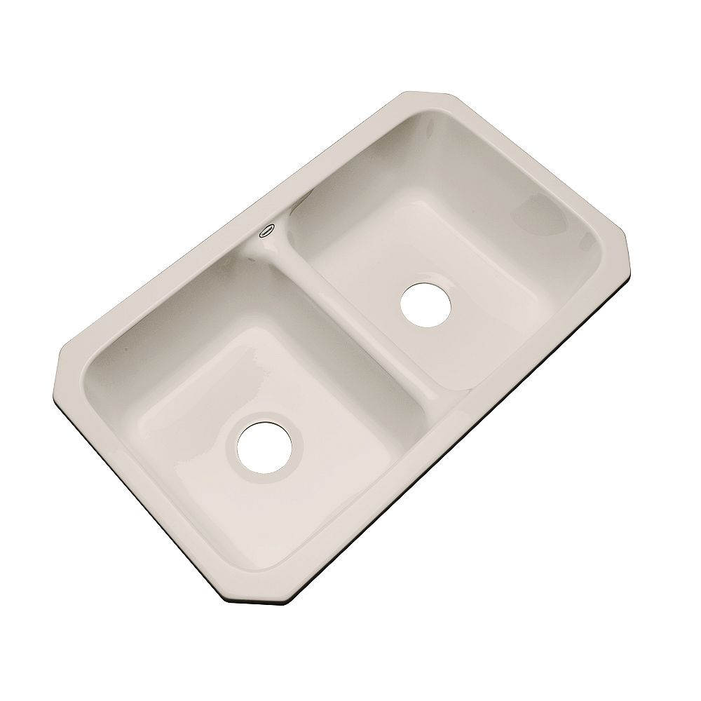 Thermocast Newport Undermount Double Bowl Shell Kitchen Sink