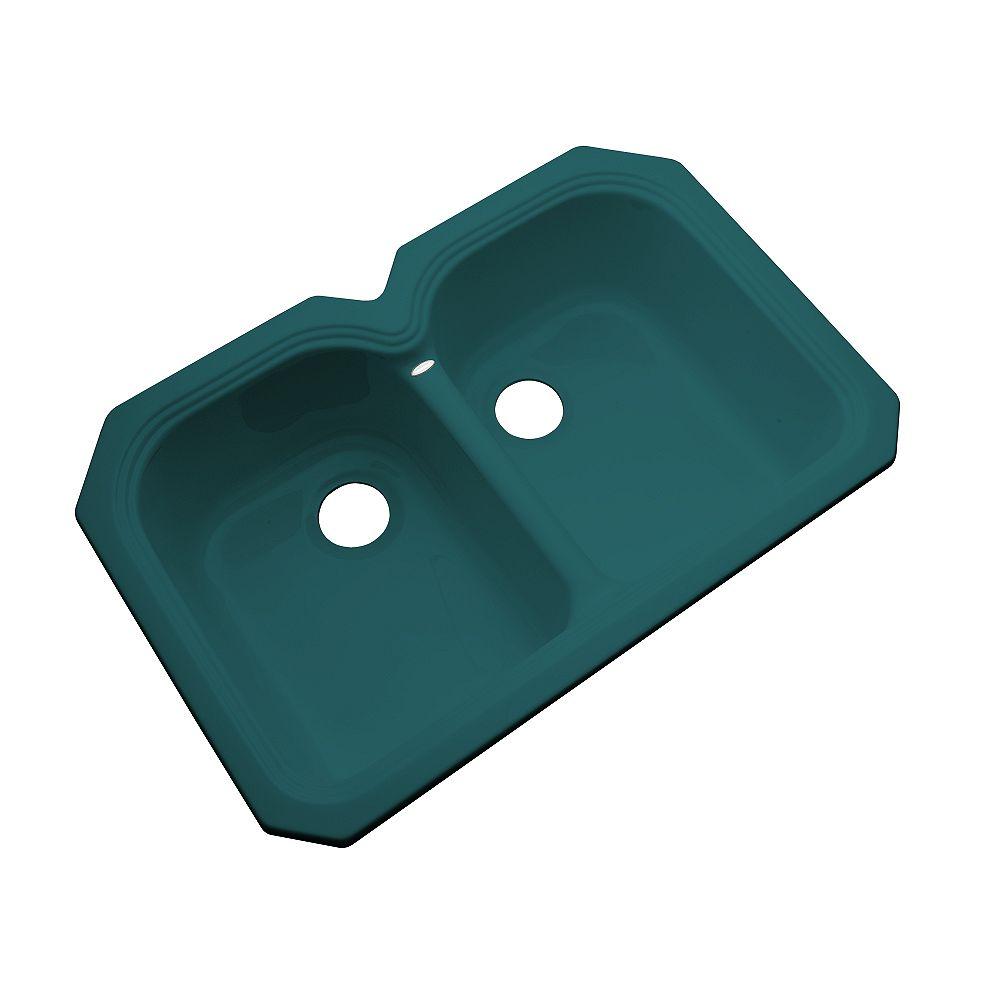 Thermocast Hartford Undermount Double Bowl Teal Kitchen Sink