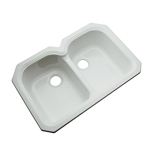 Thermocast Hartford Undermount Double Bowl Sterling Silver Kitchen Sink