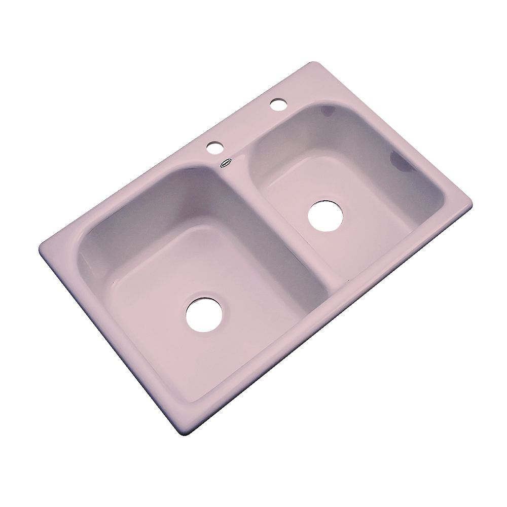 Thermocast Cambridge 33 Inch Double Bowl Wild Rose Kitchen Sink