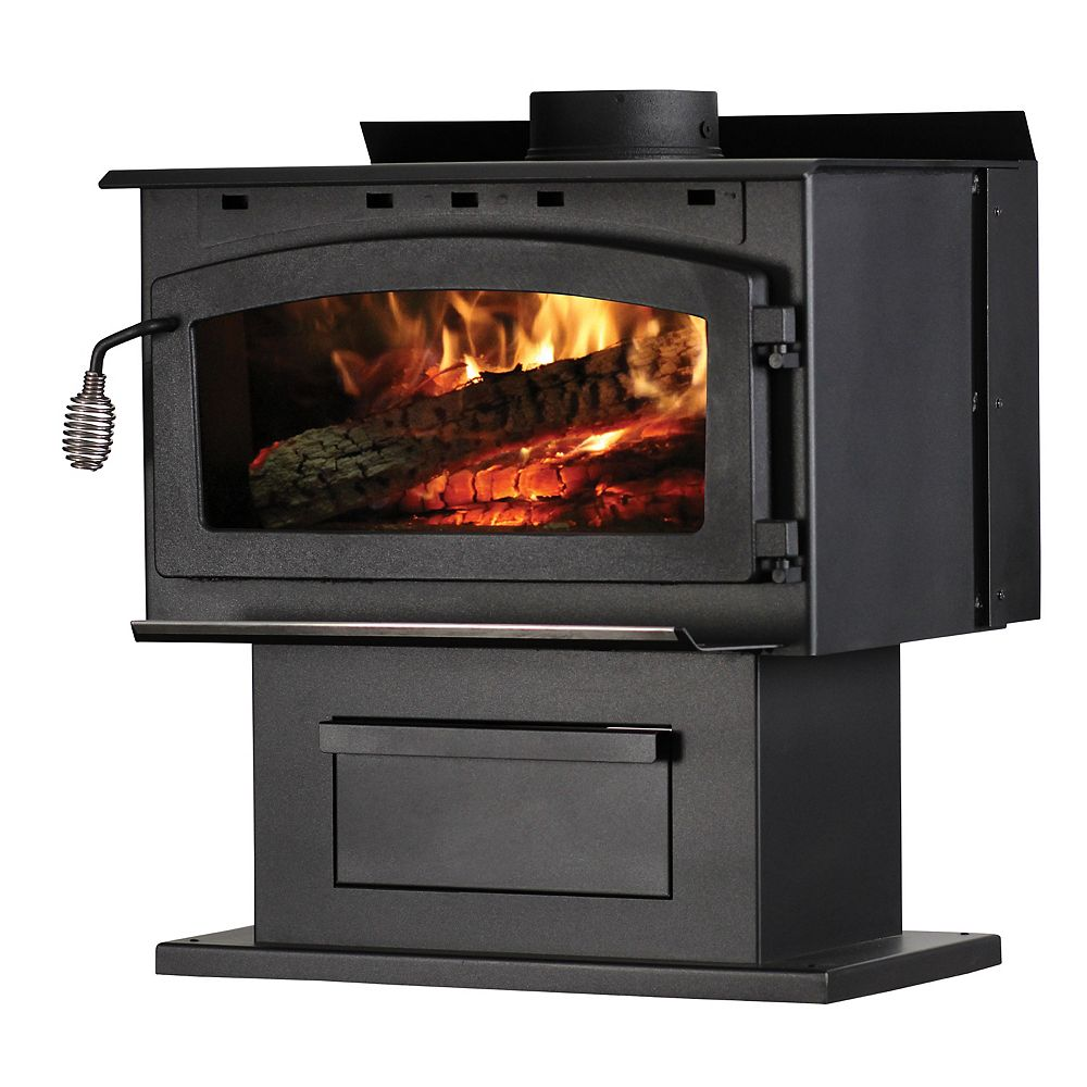 US Stove 2000 sq. ft. King 89,000 BTU EPA Certified Wood Stove with Blower