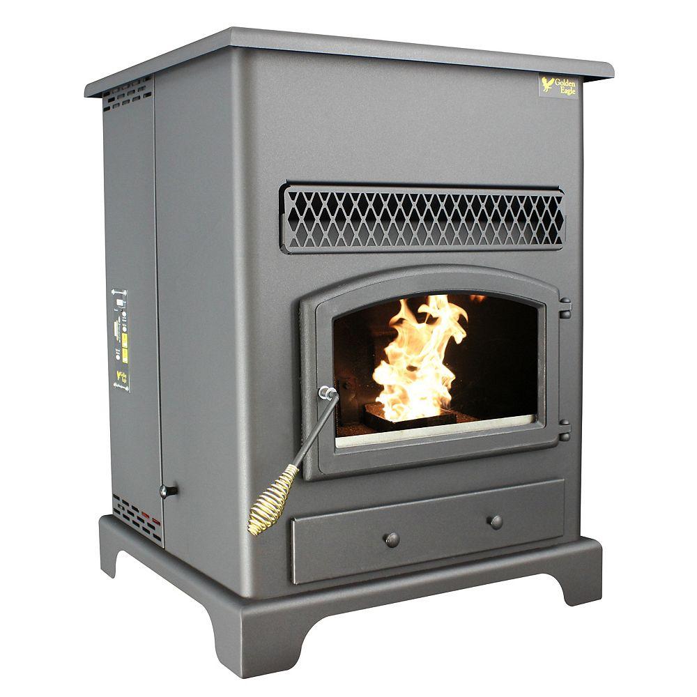 US Stove Pellet Heater W/Igniter , Large Hopper Capacity 120 Lbs