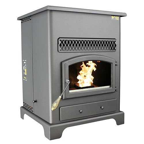 Pellet Heater W/Igniter , Large Hopper Capacity 120 Lbs