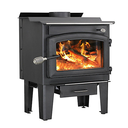 65 000 BTU Small Wood-Burning Stove with Blower (1,200 sq.ft.)