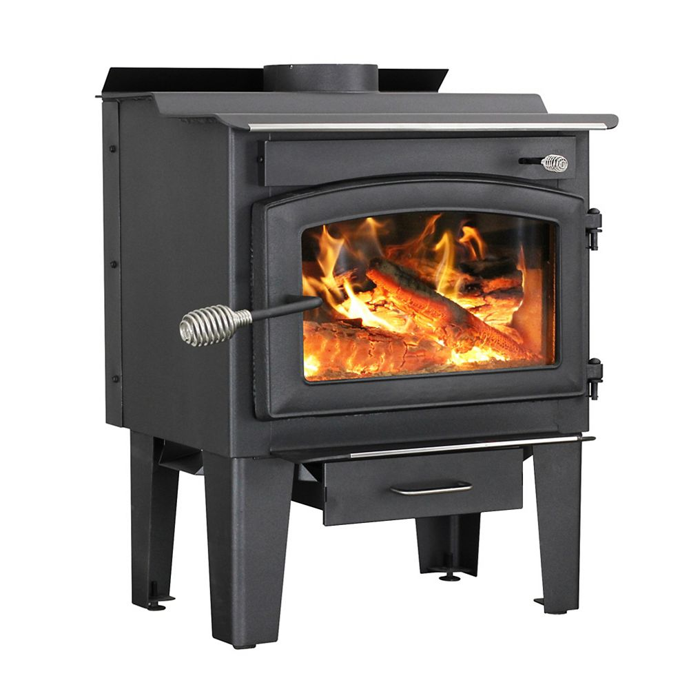 Vogelzang 65 000 Btu Small Wood Burning Stove With Blower 1 200 Sq Ft The Home Depot Canada