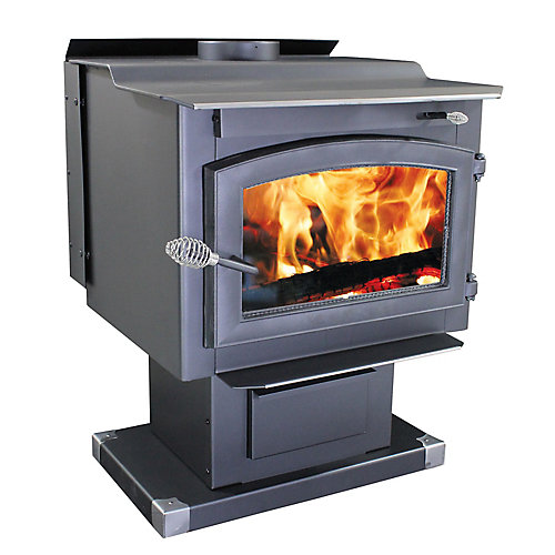 Medium EPA Wood Stove with Blower and Pedestal