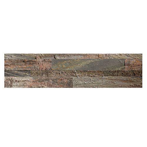 "Aspect Weathered Quartz - 4-Piece - 5.9"""" x 23.6"""" Peel and Stick Stone Backsplash Tile"