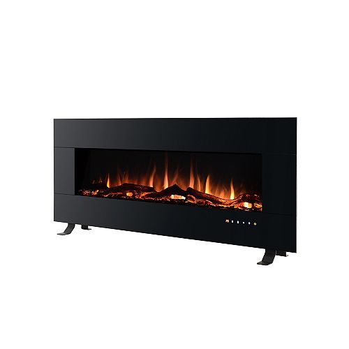 Hampton Bay 50-inch W Electric Wall-Mount Fireplace