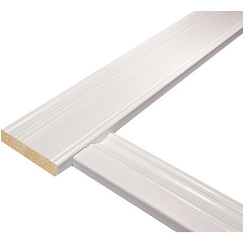 Ensemble de cadrage de porte colonial pour porte mesurant jusqu'à 36 po x 80 po
