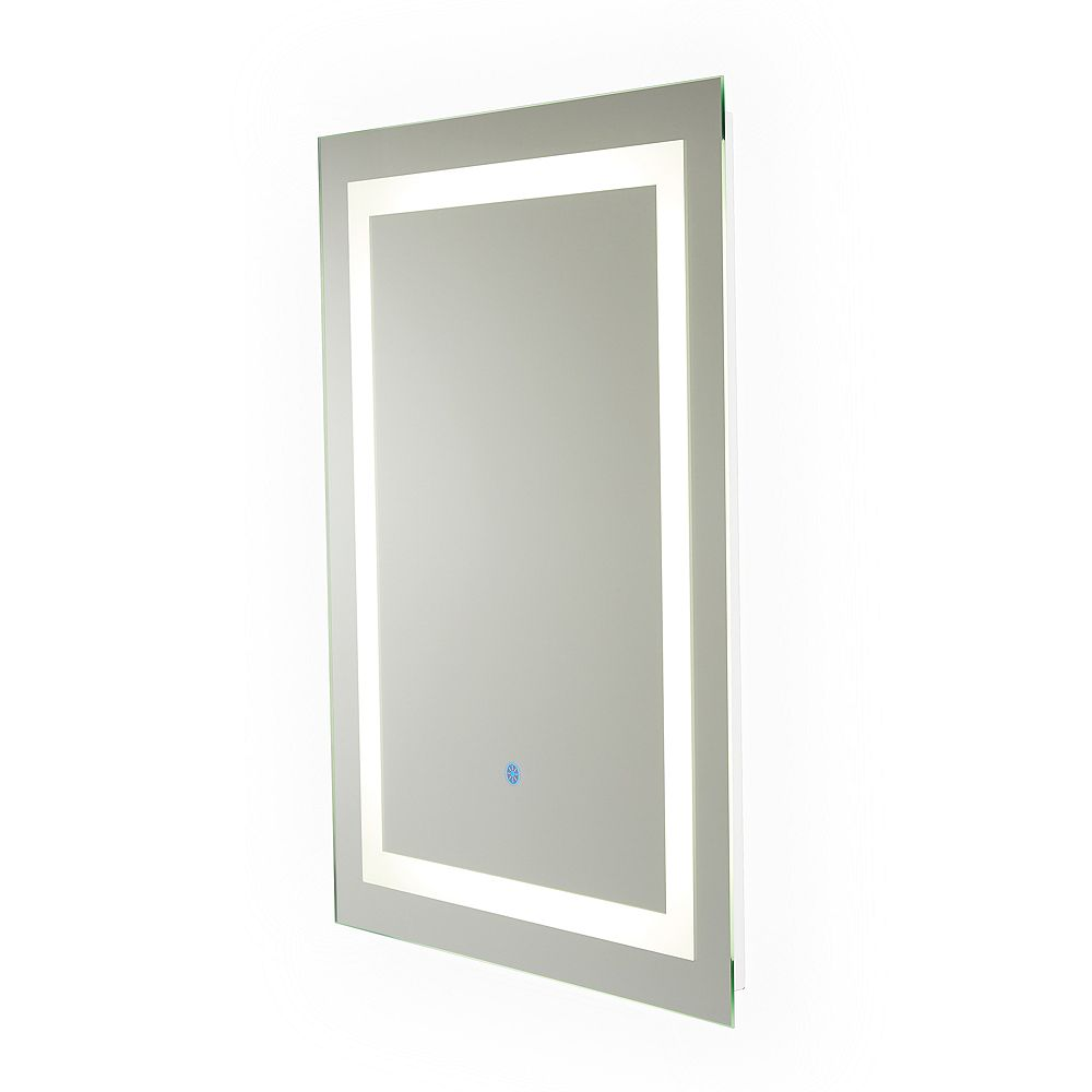 Renin Portofino Hardwired LED Illuminated Backlit Mirror for Bathroom or Vanity (24 inch x 32 inch)