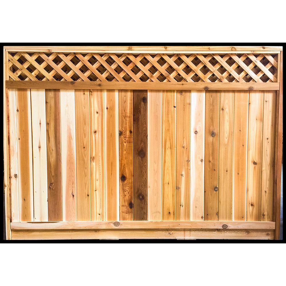 AIM Cedar Works 6 x 8 Panneau de clôture en cèdre de l'entrepreneur