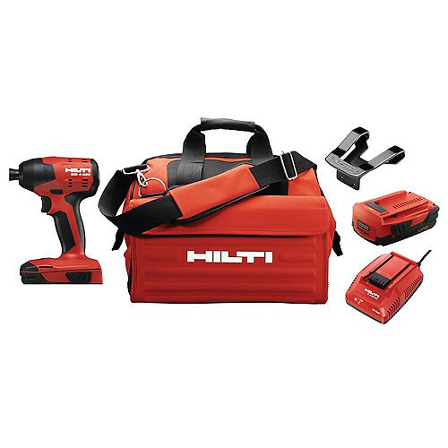 Hilti 22-Volt Lithium-Ion 1/4 Inch Hex Cordless SID 4 Compact Impact Driver