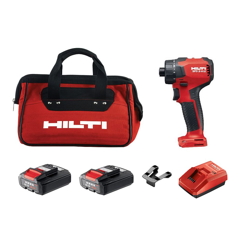 Hilti 12-Volt Lithium-Ion 1/4 in. Cordless Impact Driver SFD 2-A Kit with Battery, Charger and Bag