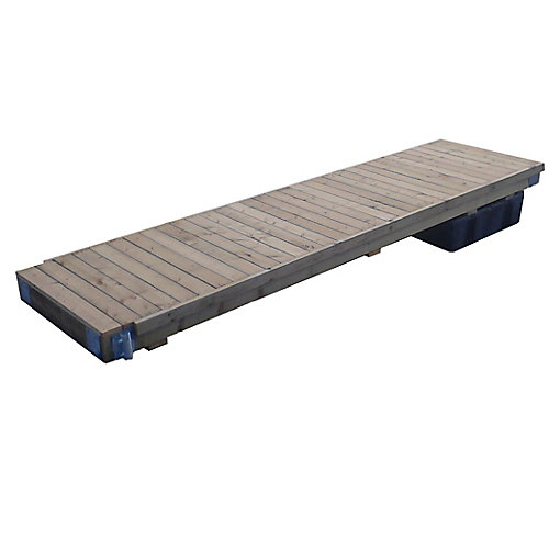 Semi-Floating Wood Dock Kit