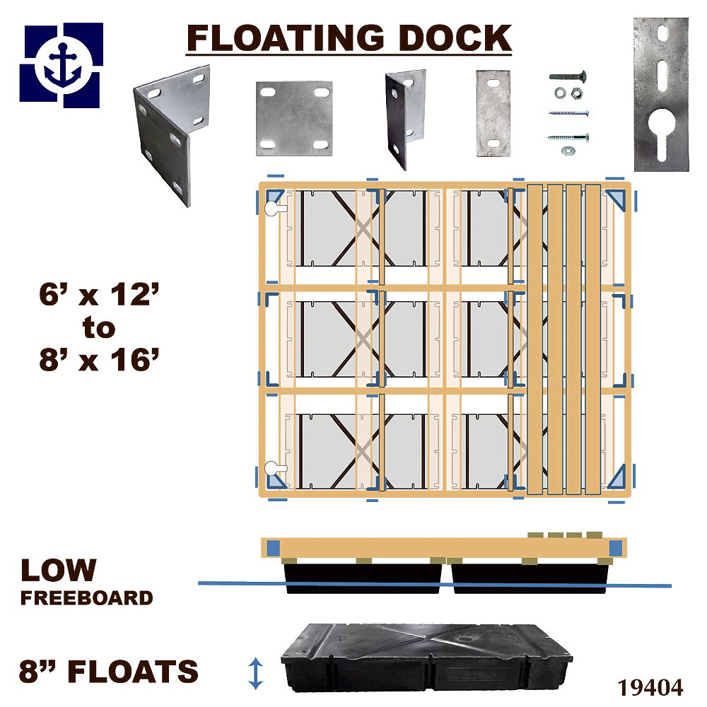 Multinautic Low Freeboard Floating Wood Dock