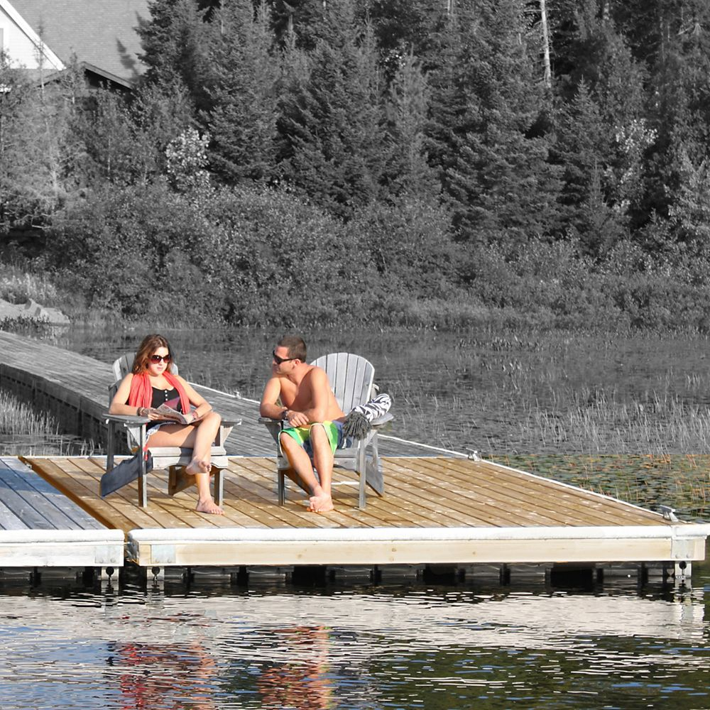 Multinautic Low Freeboard Floating Wood Dock