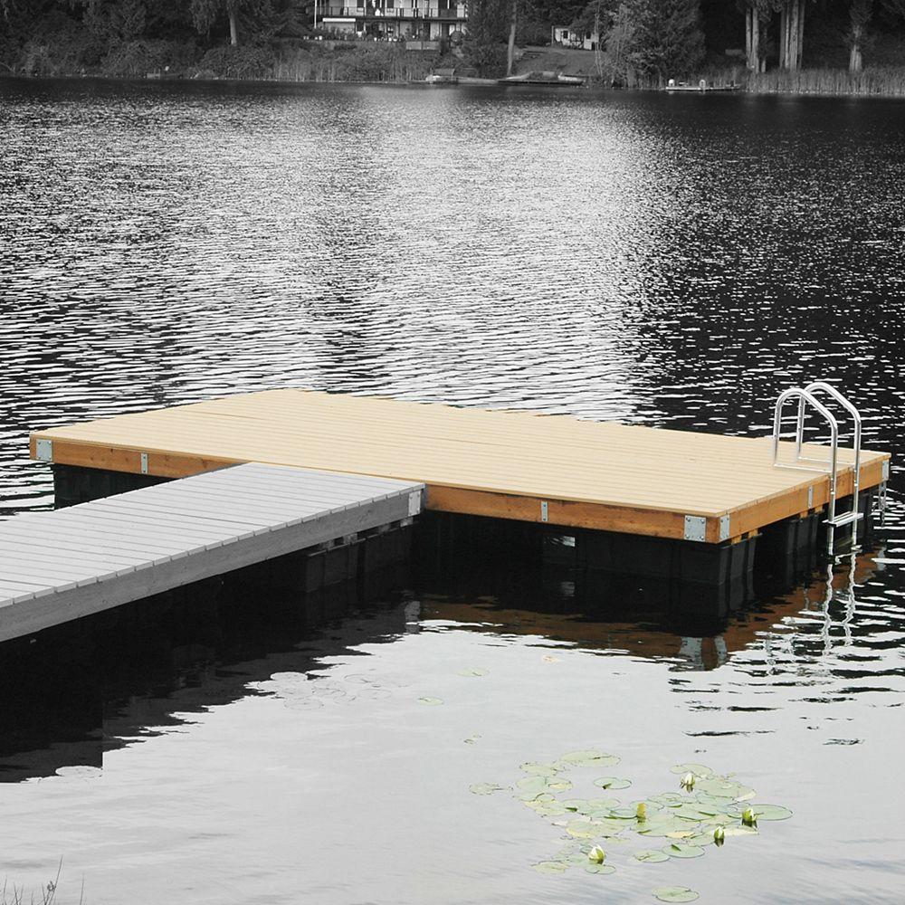Multinautic Kit de Quai flottant en bois, Franc Bord moyen