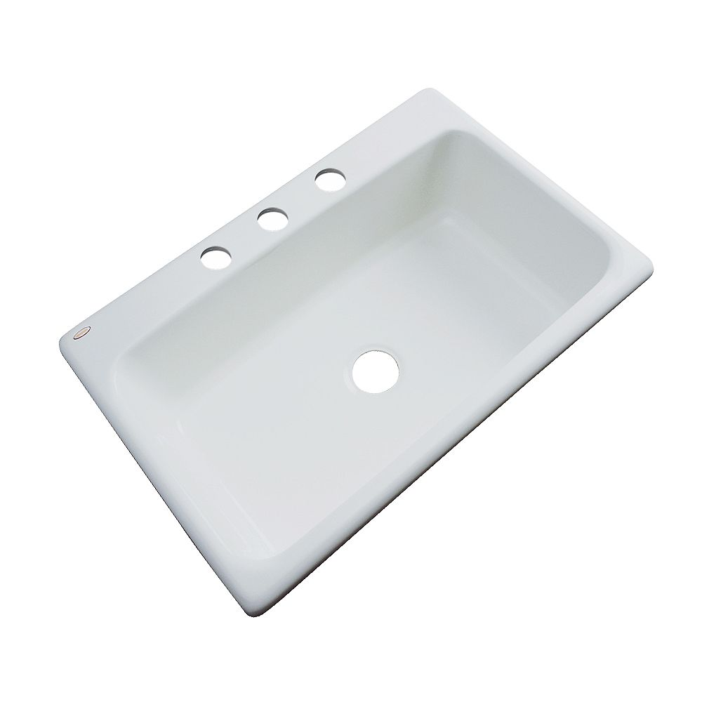 Thermocast Manhattan 33 Inch Single Bowl Sterling Silver Kitchen Sink