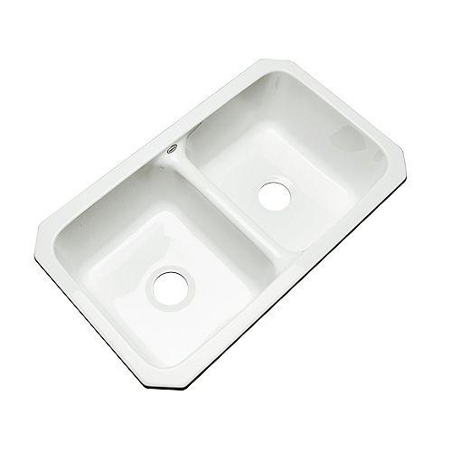 Thermocast Newport Undermount Double Bowl White Kitchen Sink