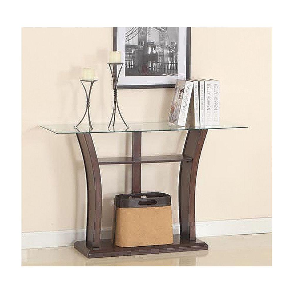Brassex Inc. Table de canapé, cerise foncée