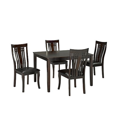 Brassex Inc. Fairmont 5-Piece Kitchen Set, Espresso