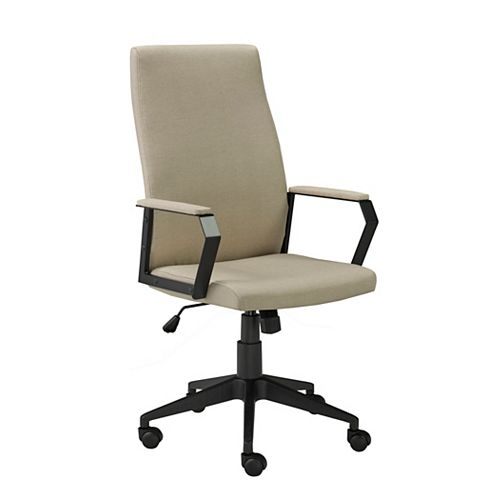 Office Chair with Gas Lift and Tilt Mechanism, Beige
