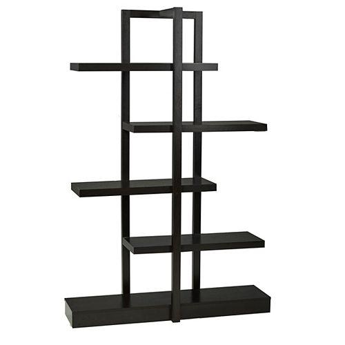 Brassex Inc. 5-Tier Display Shelf, Dark Cherry