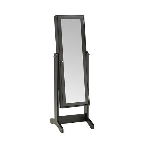 Allegra Jewellery Cabinet with Mirror, Dark Cherry