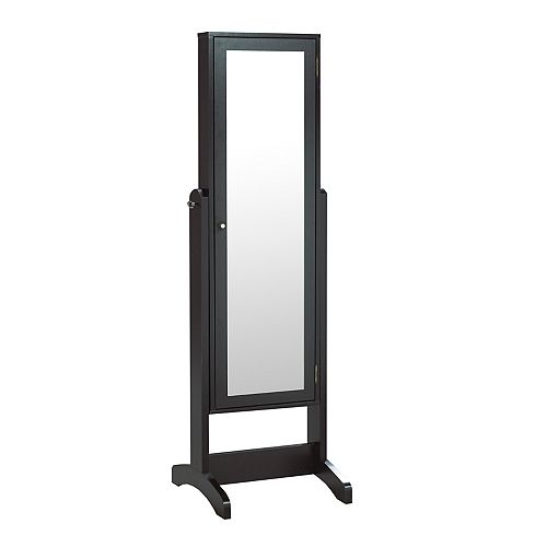 Allegra Jewellery Cabinet with Mirror, Black