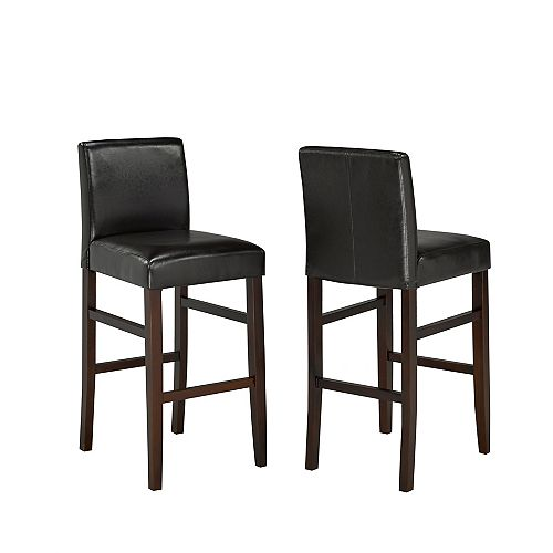 "Brassex Inc. 29"""" Bar Stool, (Set of 2), Espresso"