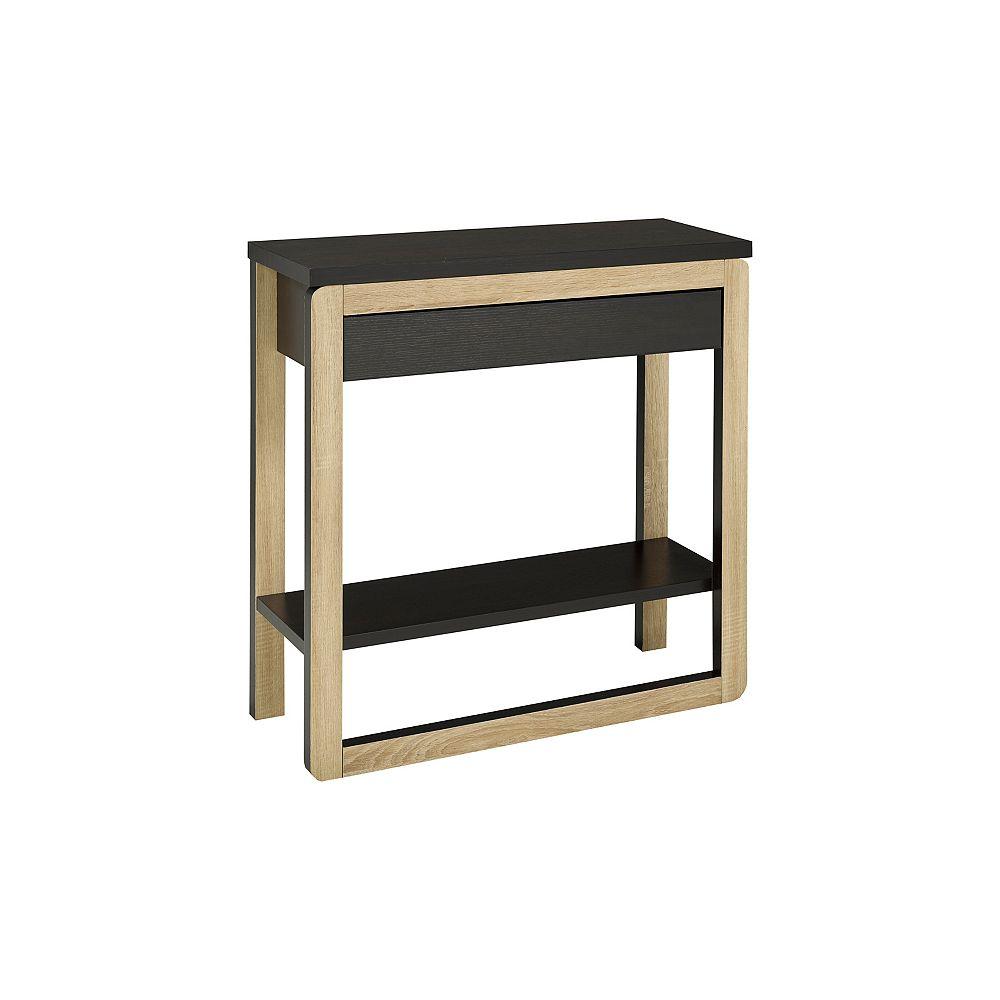 Brassex Inc. Table console Brassex à tiroir de rangement, taupe foncée/noir