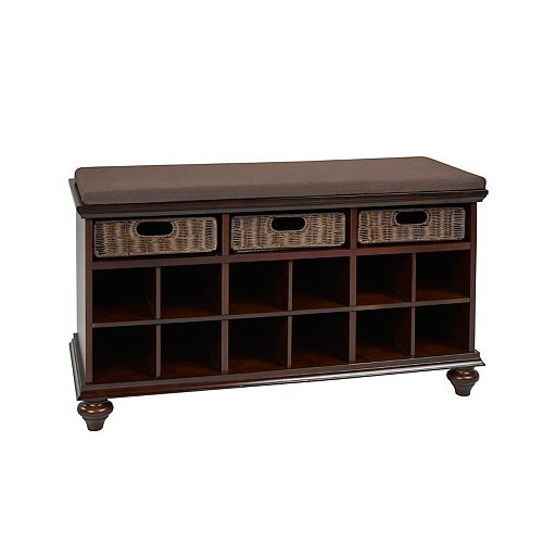 Shoe Cabinet with Storage, Espresso