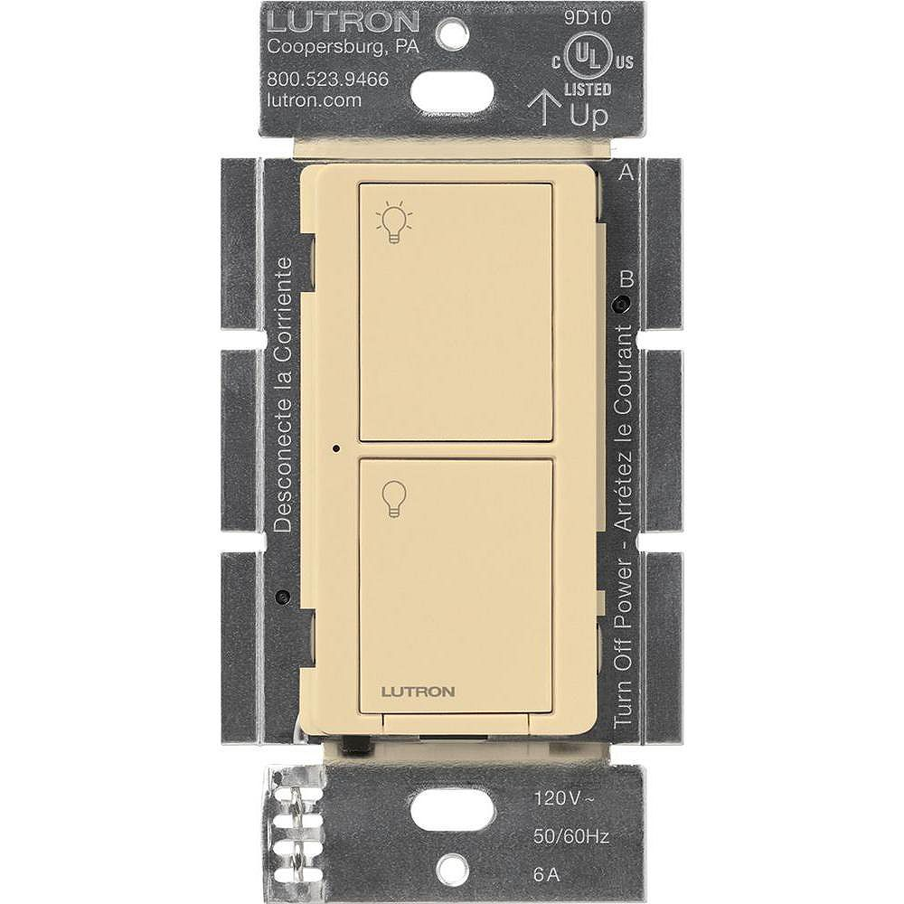 Lutron Caseta Wireless Smart Lighting Switch for All Bulb Types and Fans, Ivory