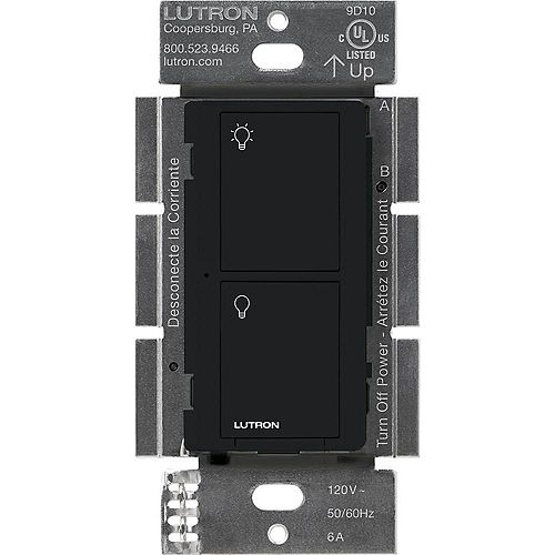 Lutron Caseta Wireless Smart Lighting Switch for All Bulb Types and Fans, Black