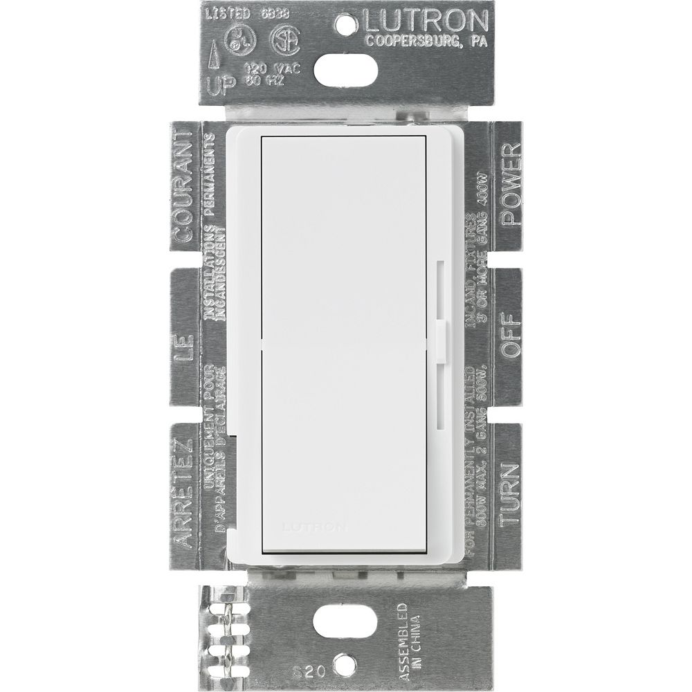 Lutron Diva 8-Amp 0 to 10-Volt 3-Way/Single-Pole Dimmer, White