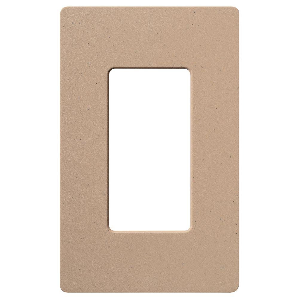 Lutron Plaque murale Claro pour 1 dispositif décorateur/à bascule, agate mousseuse, mat, ens. de 1