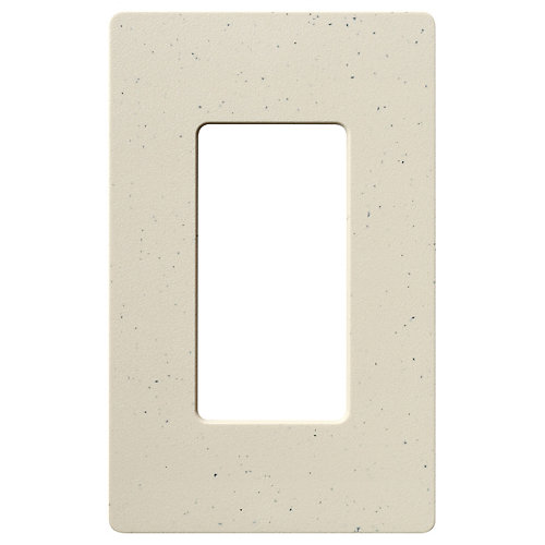 Claro 1 Gang wall plate, Stone