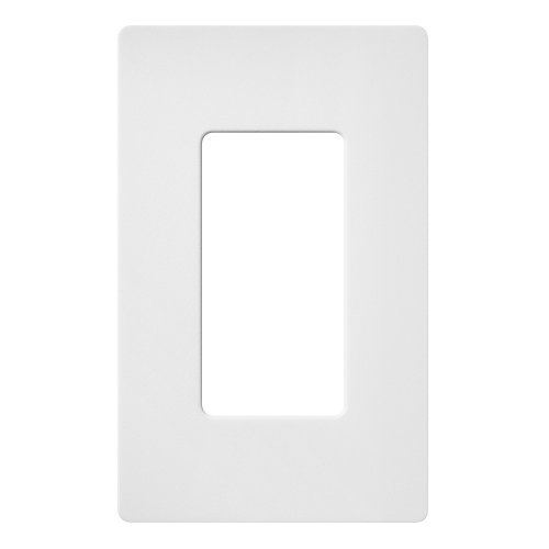 Claro 1 Gang wall plate, Snow