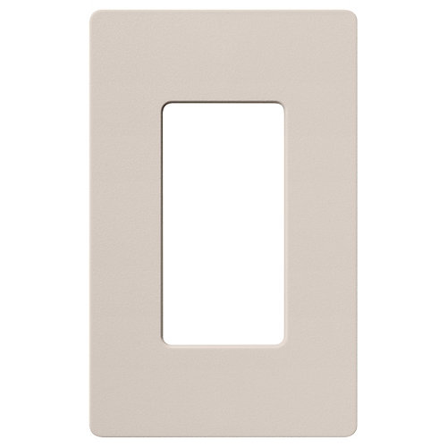 Claro 1 Gang wall plate, Taupe