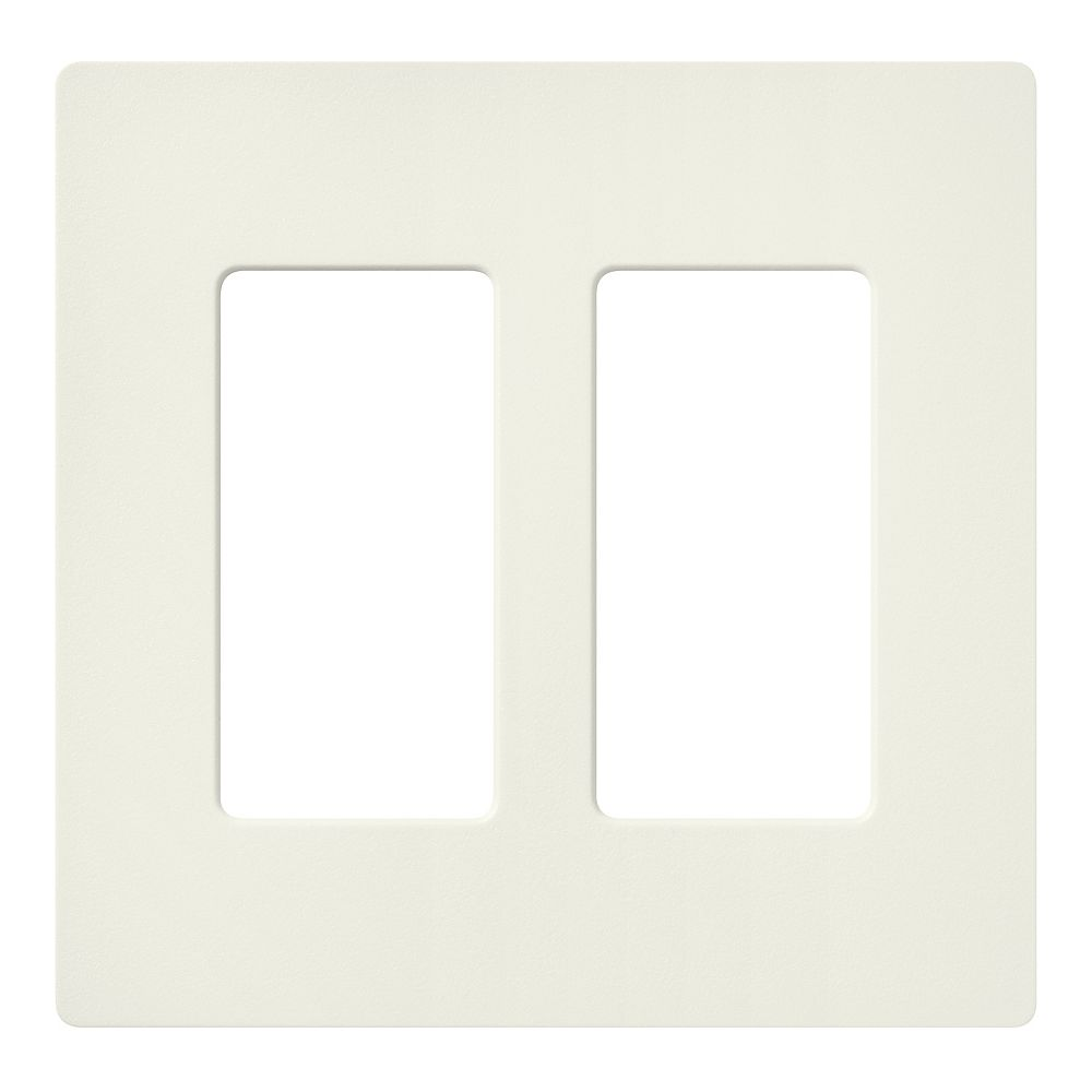 Lutron Claro 2 Gang wall plate, Biscuit